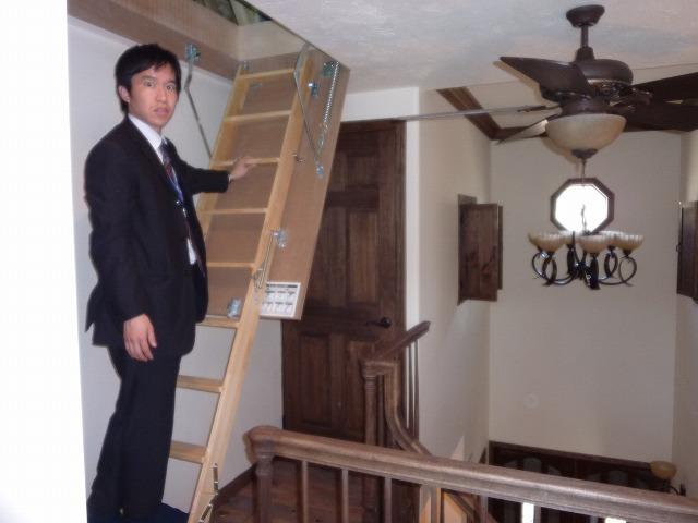 収納階段と営業1年生
