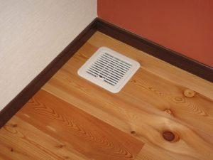 主寝室 床吸込口(樹脂グリルフィルター付き)
