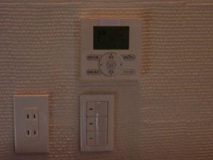 主寝室:リモコンスイッチ