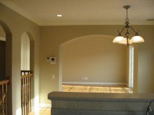 キッチン側から見た風景、照明もおしゃれです!