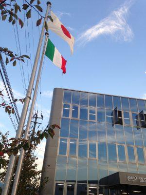イタリアと日本の国旗