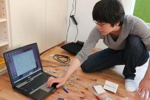 温熱環境プロジェクトチーム最年少の関東学院大学の学生さん